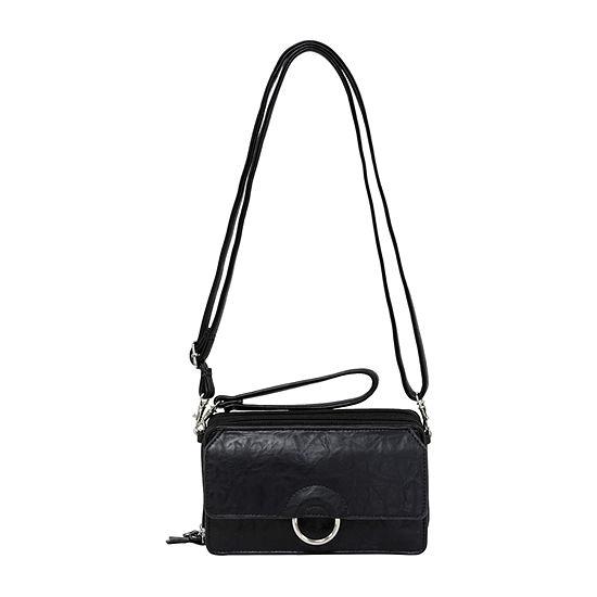 Bueno of California Small Circle Flap Crossbody Bag