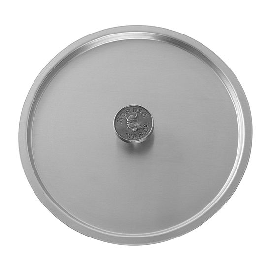 "Nordicware 10"" Universal Stock Pot Cover Stainless Steel Dishwasher Safe Pan Lids"