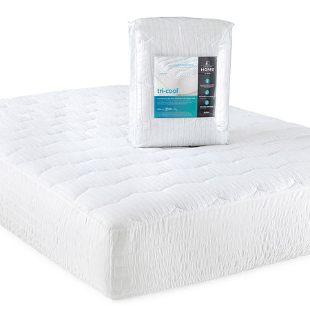 JCPenney Home Tri-Cool Temperature Regulating Mattress Pad, One Size , White