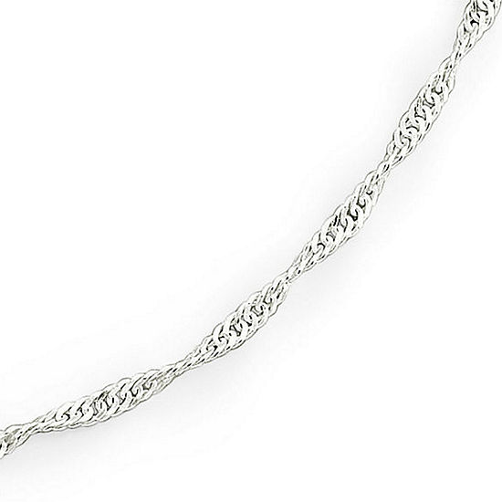"""Made in Italy Silver 30"""" 2.3mm Singapore Chain"""