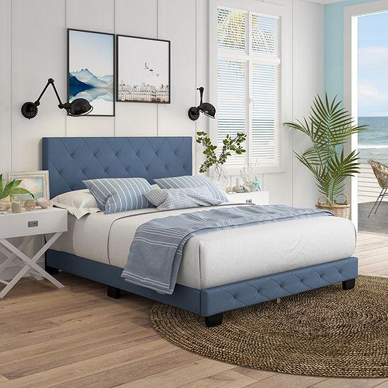 Claire Upholstered Tufted Platform Bed