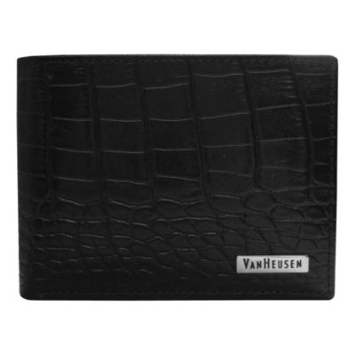 Van Heusen® Croc-Embossed Leather Wallet