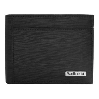 Van Heusen® Pencil-Grain Slimfold Wallet