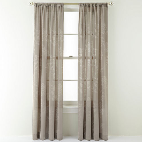 Royal Velvet® Pavolva Rod-Pocket Curtain Panel