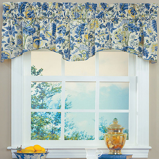Waverly® Imperial Dress Rod-Pocket Scalloped Valance