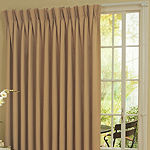 Eclipse Blackout Pinch-Pleat Single Patio Door Curtain