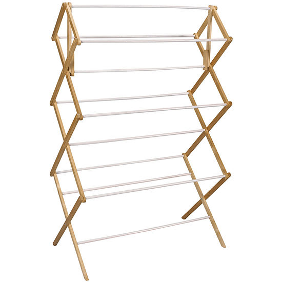 Household Essentials Mega Wood Clothes Drying Rack