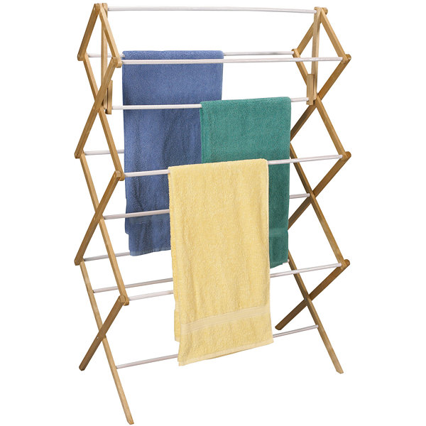 Household Essentials® Mega-Wood Clothes Drying Rack