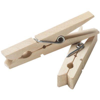 Household Essentials® 96-ct. Birch Wood Clothespins
