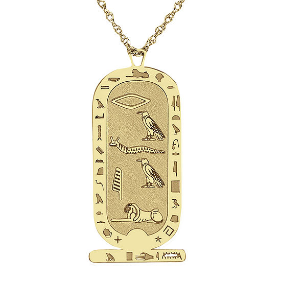 Personalized Hieroglyphic Pendant Necklace