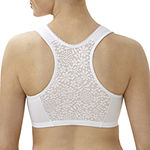 Glamorise Complete Comfort Cotton Front-Closure Wireless Racerback Unlined Full Coverage Bra-1908