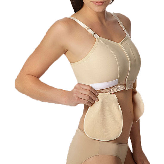 Comfortwear By Marena Recovery Bra with Drain Tube Loops