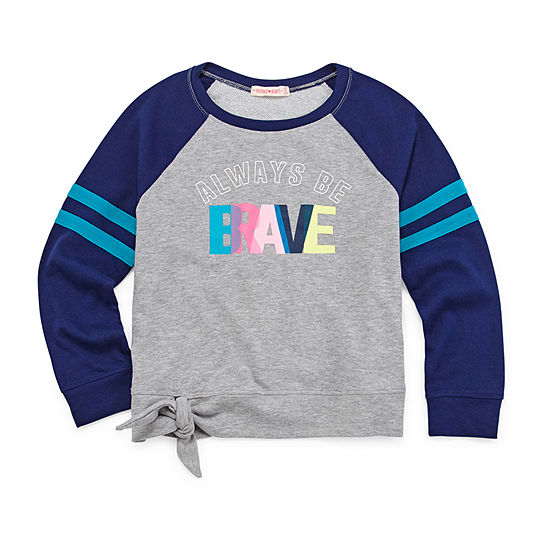Inspired Hearts Round Neck Long Sleeve Sweatshirt Preschool / Big Kid Girls