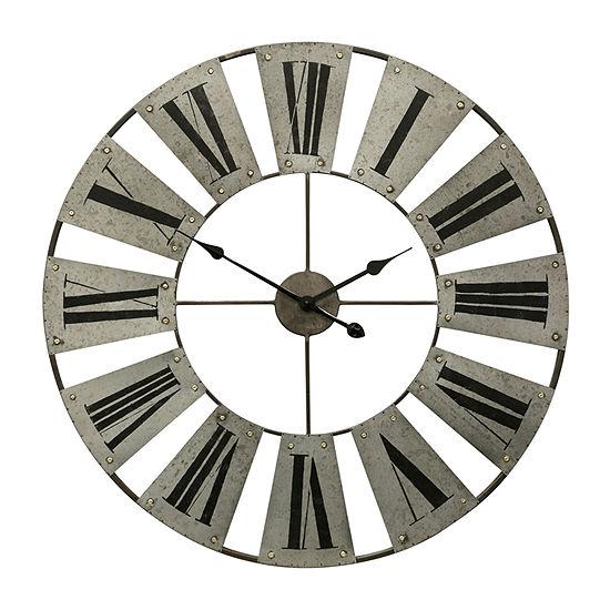 Stylecraft Roman Numeral Iron Wall Clock