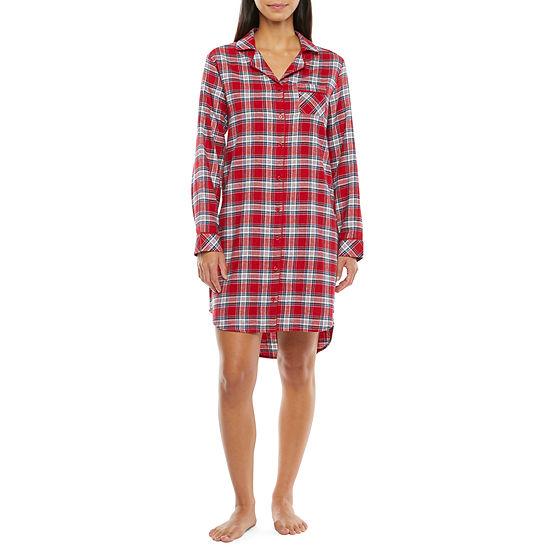 Liz Claiborne Womens Nightshirt Long Sleeve