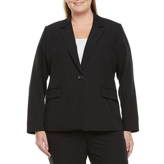 Liz Claiborne Womens Regular Fit Blazer-Plus