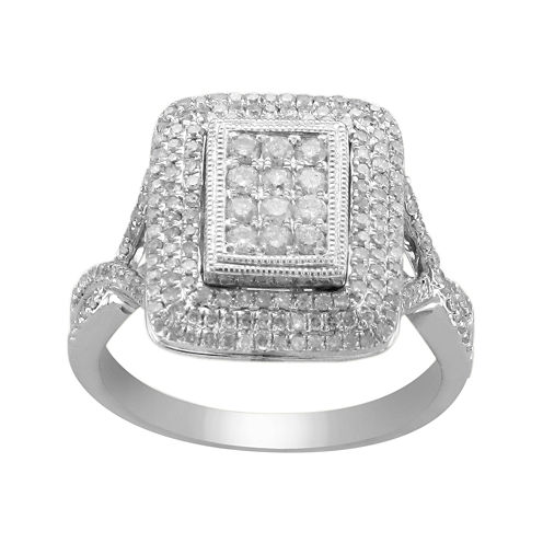 ¾ CT. T.W. Diamond Split-Shank Ring