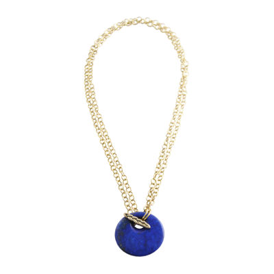 Artsmith By Barse Womens Blue Pendant Necklace