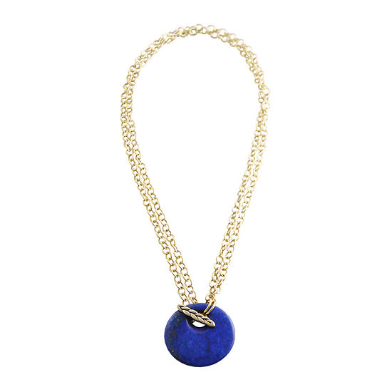Artsmith By Barse Blue Link Pendant Necklace