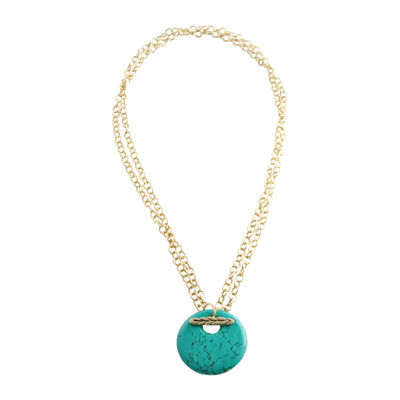 Artsmith By Barse Womens Genuine Blue Pendant Necklace