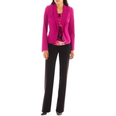 jcpenney.com | Worthington® Essential Blazer, Metal-Trim Pleated Top or Curvy Straight Pants