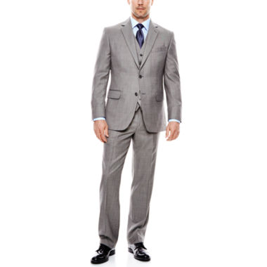 jcpenney.com | Stafford® Travel Sharkskin Suit Separates - Classic Fit