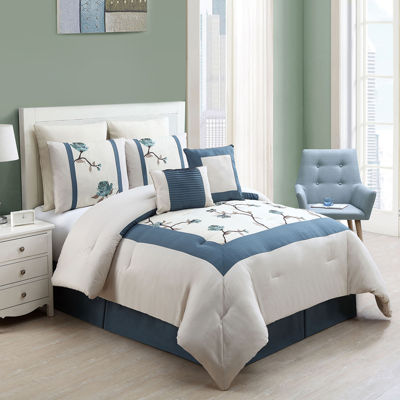 VCNY Trousdale 8-pc. Embroidered Comforter Set