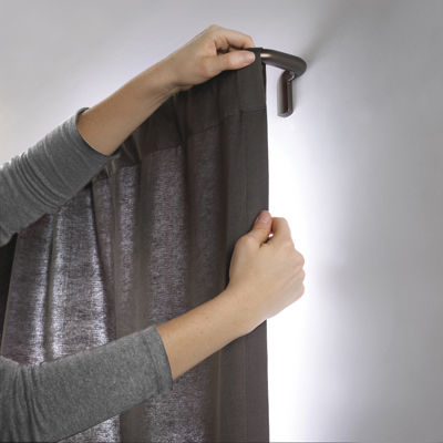 "Umbra® Twilight ¾"" Blackout Adjustable Curtain Panel Rod"