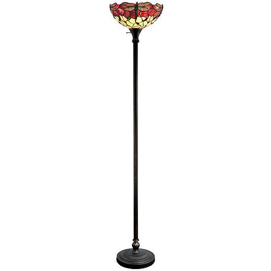 half off 07b69 4121f Dale Tiffany™ Azure Dragonfly Torchiere Floor Lamp