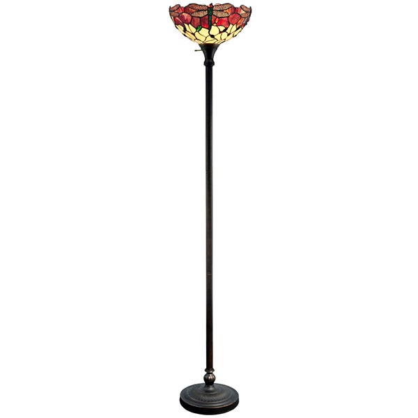 Dale Tiffany™ Azure Dragonfly Torchiere Floor Lamp