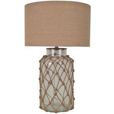 Rope Glass Table Lamp