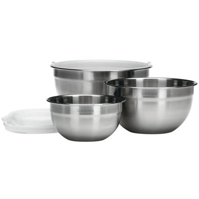 Cuisinart® 3-pc. Stainless Steel Mixing Bowl Set with Lids