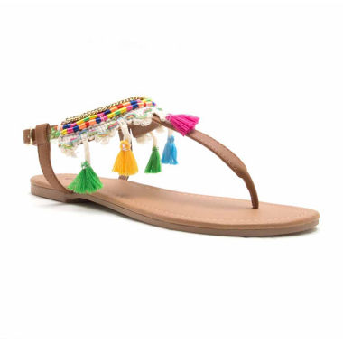 Qupid Womens Flat Sandals