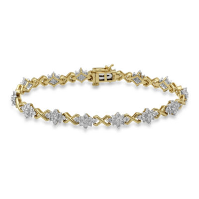 Womens 4 CT. T.W. White Diamond 10K Gold Tennis Bracelet