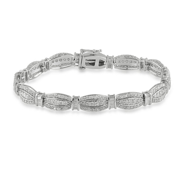 Womens 5 CT. T.W. White Diamond 10K Gold Tennis Bracelet
