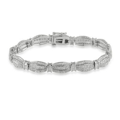 5 CT. T.W. Genuine White Diamond 10K Gold 7.25 Inch Tennis Bracelet