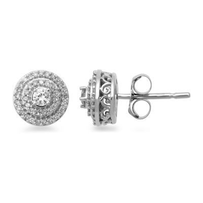 1/4 CT. T.W. Round White Diamond 14K Gold Stud Earrings