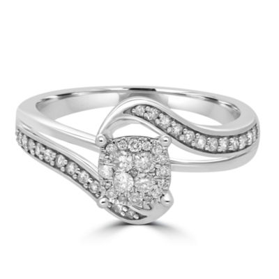 Womens 1/3 CT. T.W. Round Diamond 10K Gold Promise Ring