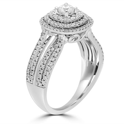 Modern Bride Signature Womens 1 CT. T.W. Genuine White Diamond 14K Gold Engagement Ring