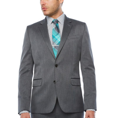 JF J.Ferrar Pin Dot Super Slim Fit Suit Jacket