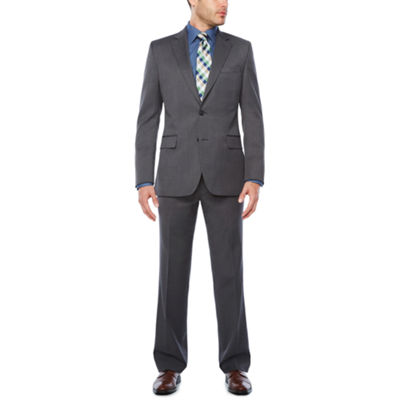 Stafford Travel Stretch Med Grey Suit Separates-Slim