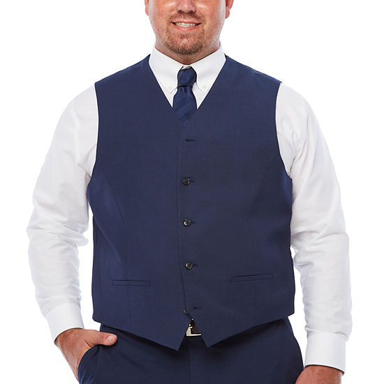 JF J.Ferrar Mens Classic Fit Suit Vest - Big and Tall