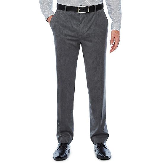JF J.Ferrar Mens Pin Dot Stretch Super Slim Fit Suit Pants