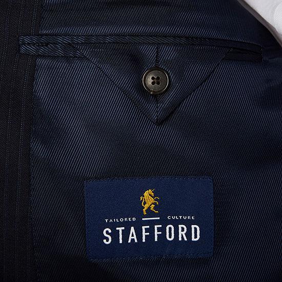 Stafford Travel Navy Twill Suit Jacket - Big & Tall