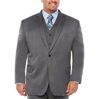 JF J.Ferrar Pin Dot Classic Fit Suit Jacket-Big and Tall