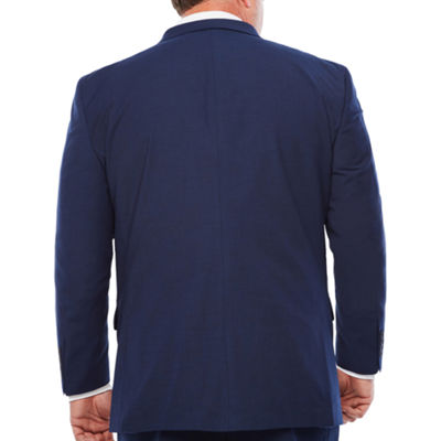 JF J. Ferrar® Dark Blue Texture Jacket-Big and Tall