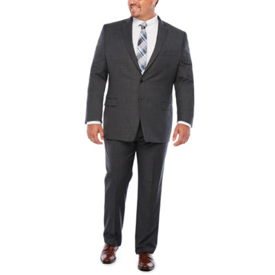 Collection by Michael Strahan Blue Gray Stripe Suit Separates-Big and Tall