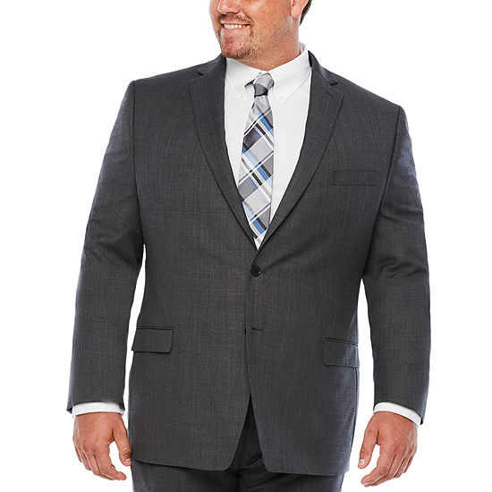 Collection by Michael Strahan -Big and Tall Striped Classic Fit Suit Jacket