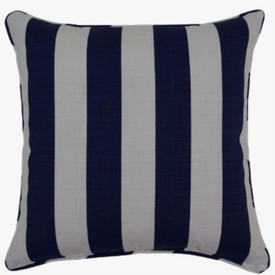 Classic Stripe Square Corded Outdoor Pillow
