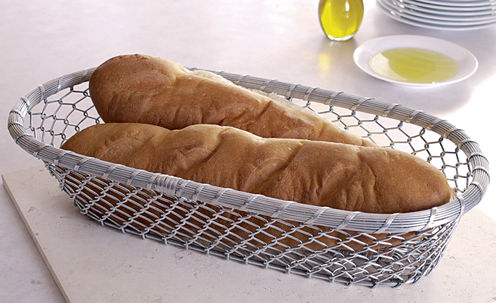"St. Croix Trading 17"" Chain-Link Metal Bread Basket"""